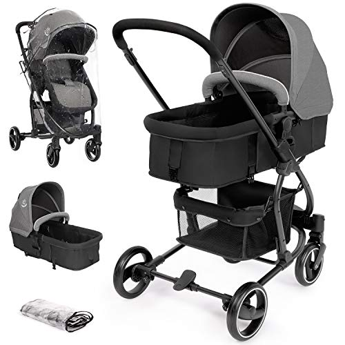 Hello-5ive Pushchair Travel System, Foldable Lightweight Baby Stroller with...