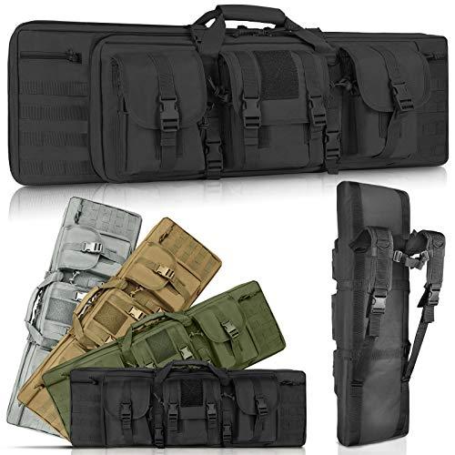 LUXHMOX Double Long Soft Rifle Case, American Classic...