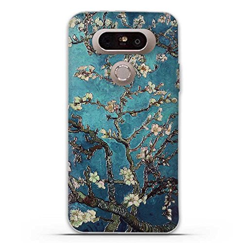 FUBAODA for LG G5 Case, 3D Emboss Pattern Classic Flower TPU Soft Case Rubber Silicone Skin Cover for LG G5