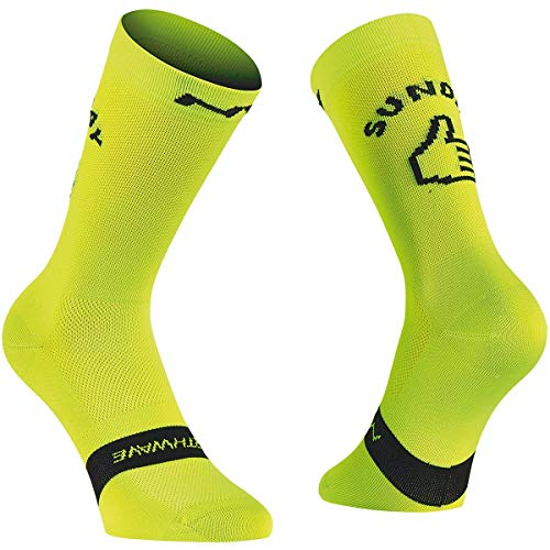 Northwave Sunday-Monday Socke, Lime Fluo, M