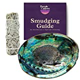 Purple Canyon Sage Smudge Kit with Abalone Shell   White Sage Smudge Sticks Incense Kit for Meditation Home Cleansing Aromatherapy
