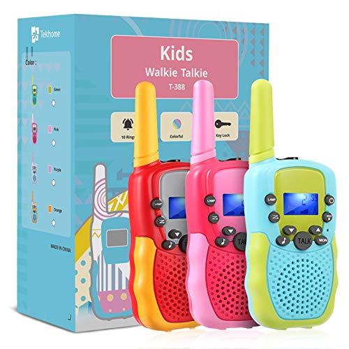 3 Pack Kids Walkie Talkies,TekHome Toys for 3-12 Year...