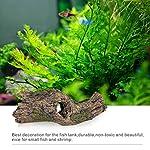 Hygger RéSine pour DéCoration Fish Tank, RéSine Naufrage Bois Aquarium Grotte Aquarium Decoration Cave Artificielles en pour Aquarium Ornements DéCor Accueil Jardin Plantes de Jardin (Bois) #2