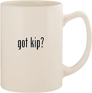 got kip? - White 14oz Ceramic Statesman Coffee Mug Cup