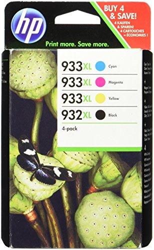 HP 932XL/933XL Combo Pack - Confezione da 4 - Alta resa - nero, giallo, ciano, magenta - originale - Officejet - cartuccia d'inchiostro - per Officejet 6100, 6600 H711a, 6700, 7110, 7510, 7610, 7612