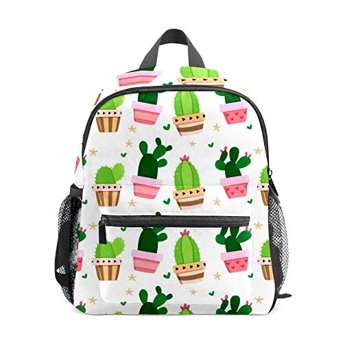 School Backpack for Kid Girls Boys,Student Bookbag Casual Daypack Travel Children Bag Organizer for Camping Hiking Gift Cactus
