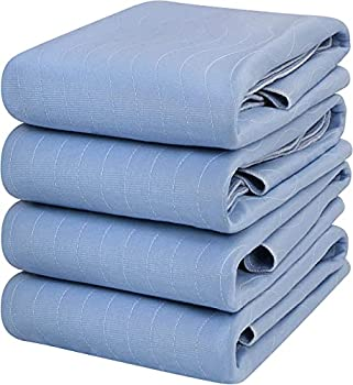 Utopia Bedding Waterproof Incontinence Pads Quilted Washable & Absorbent Bed Pad for Adults and Kids 34 x 36 inches/Large  Pack of 4 Blue