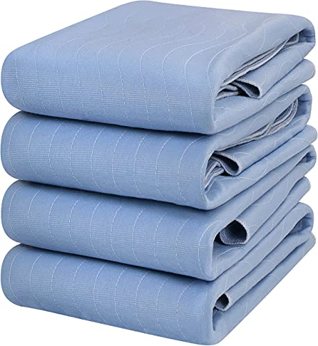 Utopia Bedding Waterproof Incontinence Pads Quilted Washable & Absorbent Bed Pad for Adults and Kids 34 x 36 inches/Large (Pack of 4, Blue)