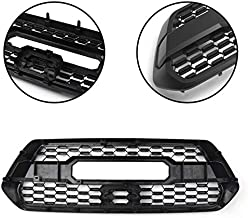 SHES Front Hood Black Grille for Toyota Tacoma TRD PRO 2016 17 18 2019 Mesh Racing Grill Plastic Car Accessories with Letter