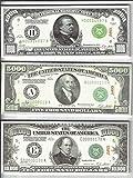 10X $1000/5000/10,000 (1928) BILLS PROP MONEY/FAKE/PLAY. NOT LEGAL TENDER size 2.25 x 5.25 inch