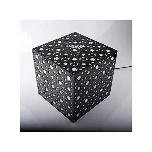 Faberplast Hander Lampe, noir et blanc, 25 x 25 x 25 cm