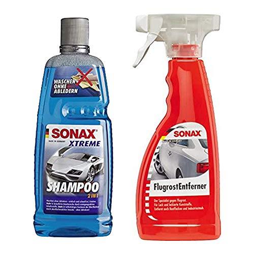 SONAX Champú Xtreme 2 en 1, 1 l + eliminador de óxido, 500 ml, limpieza exterior