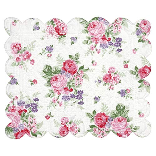 GreenGate Tischset Curved Edge Rose White (1 STK.) QUIPLAC35ROS0106
