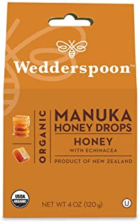 Wedderspoon Organic Manuka Honey Drops Honey with Echinacea 4 oz 120 g