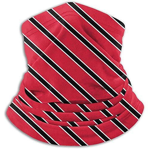 GWrix vlag van Trinity en Tobago patroon nekwarmer bivakmuts skimasker koud weer wintermutsen voor mannen vrouwen zwart