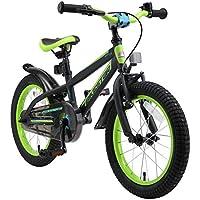 "BIKESTAR Bicicleta Infantil para niños y niñas a Partir de 4 años | Bici de montaña 16 Pulgadas con Frenos | 16"" Edición Mountainbike Negro"