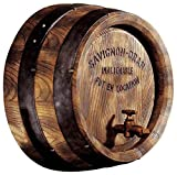 Design Toscano NG32903 French Vineyard Decor Wine Barrel Wall Sculpture, 18 Inch, Full Color