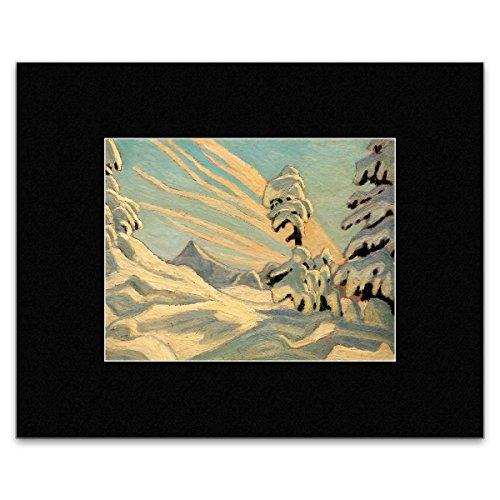 Stick It On Your Wall Lawren S. Harris–Snow Rocky Mountains 1925Mini-Poster–30,5x 40.5cm