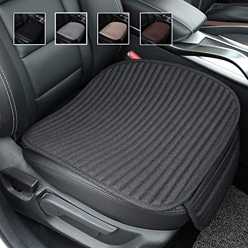 Black Car Seat Covers,Buckwheat Hulls Car Seat Cushion,Truck Seat Covers,Compatible Sedan SUV Van MPV,Car Seat Pads,Bottom Seat Covers for Cars[Black Front Seat]