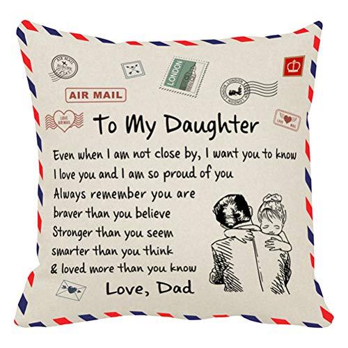Desire Sky Funda de almohada cuadrada decorativa para aniversario de Navidad, fundas de almohada personalizadas para regalo para mi abuela, Navidad, cumpleaños, cuadrado, suave y decorativo