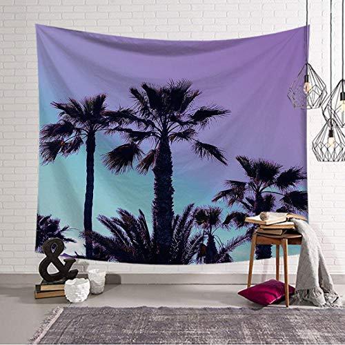 TJJY Tapiz de Coco para Playa, decoración de Tela, Tapiz de árboles, Manta para Colgar en la Pared, Toalla de Playa, AlfombraGrande,Alfombra nórdica paraYoga-K