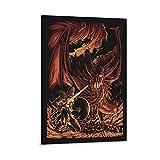 caonidaye Wyverns Wrath, Dark Souls, Póster de juegos, póster decorativo de...