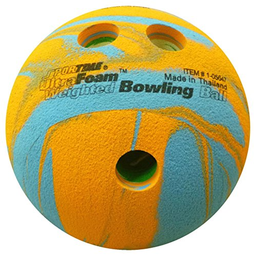 Sportime UltraFoam Bowling Ball Weighted Multi Color 1 Pound 019899