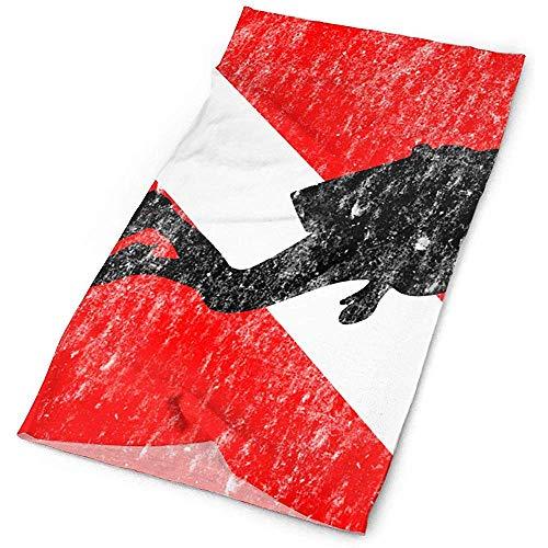 Buceador en la bandera de buceo Regalos de buceo Gorros Estiramiento Bandana sin costuras Envoltura de la cabeza Diadema Banda para el sudor Pasamontañas Sombreros Bufanda mágica