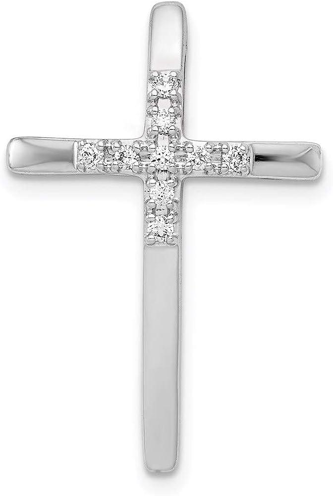 Charm Pendant 14K White Gold Diamond Round 1 Rare 10Ct. Chain S Cross San Jose Mall