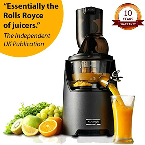 Kuvings Evo-Series Professional 240 Watt Cold Press Whole Slow Juicer (EVO700) (Metallic Silver)...