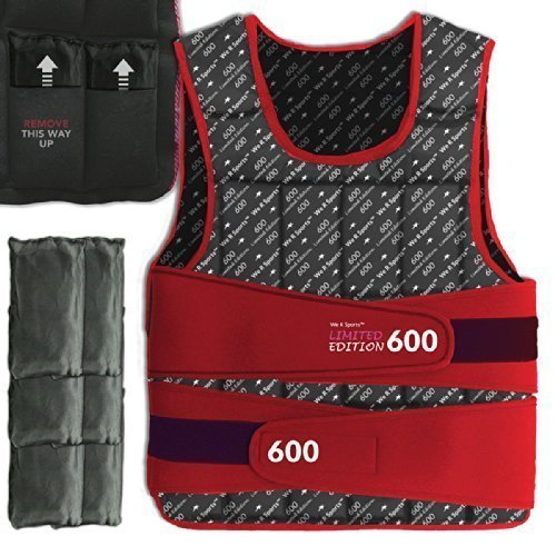 We R Sports Adjustable Weighted Weight Vest Loss Training Exercise Crossfit Limited Edition (Red, 5KG)