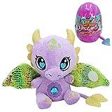Baby Gemmy Dragons- Huevos Sorpresa Gigantes, Peluche Dragón, alas desplegables con Velcro, 6 Modelos/Colores Diferentes (Colorbaby 44888)