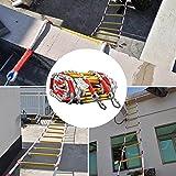 SFSGH Escaleras de evacuación de Emergencia en Caso de Incendio 5m 8m 10m 20m Escalera de evacuación de Seguridad con mosquetones Antideslizante con excelente Capacidad de Carga Escalera