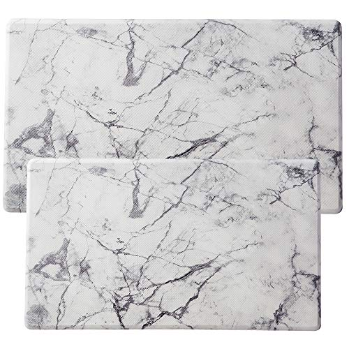 """Asvin Kitchen Mat Set of 2 Pieces, Anti Fatigue Cushioned Kitchen Rug for Floor, Non-Slip PVC Waterproof Heavy Duty Sink Mat for Home, Office, Laundry, 18""""x30""""+20""""x36"""""""