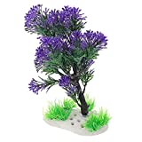 STOBOK Plantas de Acuario Decoraciones de Tanques de Peces Mini Árbol Planta Acuática Paisaje de Acuario Decoración para El Jardín Zen Bonsai Púrpura