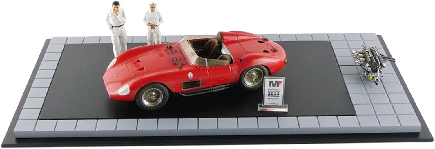 Cmc- m-172–Maserati 300S–Dirty Version mit 2Figuren 1956–Rot–Mastab 1 18