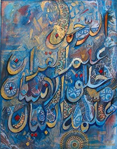 XCxCN 5D DIY「Muslimische islamische Schrift」Diamant Painting Kits,Bohren voll kristall Strass Stickerei,kreuzstich Kunst Handwerk Hause wanddekoration 40x50cm
