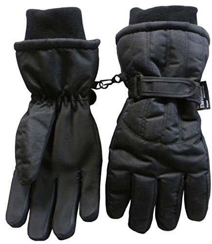 N'Ice Caps Men's Thinsulate and Waterproof Cold Weather Ski Glove with Ridges
