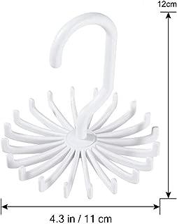 Alinory Tie Rack Adlustable Crosses X Tie Rack Belt Scarves Hook Hanger Holder Organizer