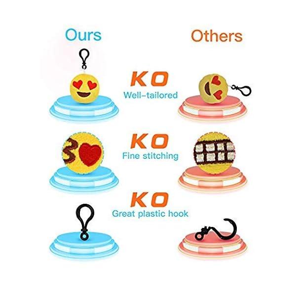 51bcJlHP3tL. SS600  - Ventdest Mini Emoji Llavero, 35 PCS Emoticon Llavero Emoji Encantadora Almohada para la decoración de Bolsos Mochilas y Llaves Regalitos para niños cumpleaños Colgante de decoración para Coche