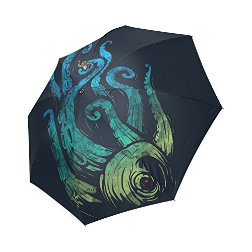 Paraguas de Lluvia Plegable, Personalizable, diseño de Ataque Submarino
