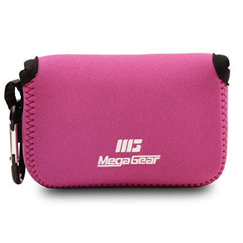 MegaGear MG817 - Funda de Neopreno con mosquetón para cámara Canon PowerShot SX620 HS, Color Rosa