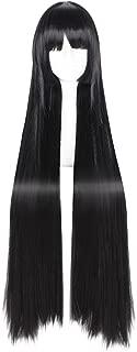 C-ZOFEK Jabami Yumeko Wig Kakegurui Cosplay Women 80cm Long Straight Hair (Black)