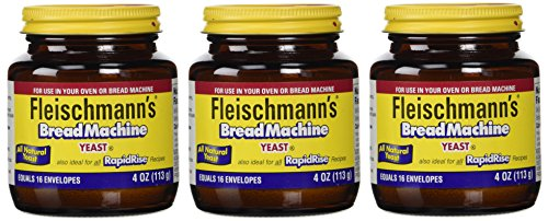 Fleischmann's Yeast for Bread Machines, 4-Ounce Jars (Pack of 3)