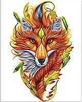 ダイヤモンドの絵画 フルスクエア/ラウンドドリル5Ddiyダイヤモンド絵画「動物のカラフルな絵画」3D刺繡クロスステッチ5D家の装飾