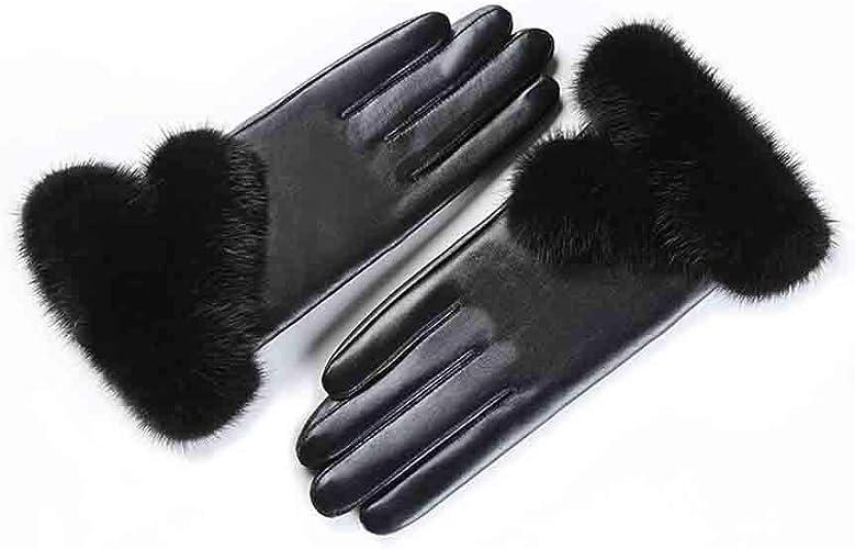 XY Gants Gants Ms Winter Touch Screen Plus épais Garder Au Chaud (Couleur   Noir, Taille   L)