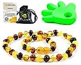 AmberJewellery Collar de Ambar 33cm. - De la Máxima Calidad Certificado Genuino Collar de Ámbar Báltico/Rápido Entrega / 100 Días de Garantía de Devolución de Dinero! (Multi)