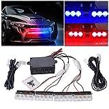 EFORCAR 1pcs 12 LED Flash estroboscópico Emergencia Light12V Coche LED Parrilla Delantera/LED Deck Strobe Light Car...