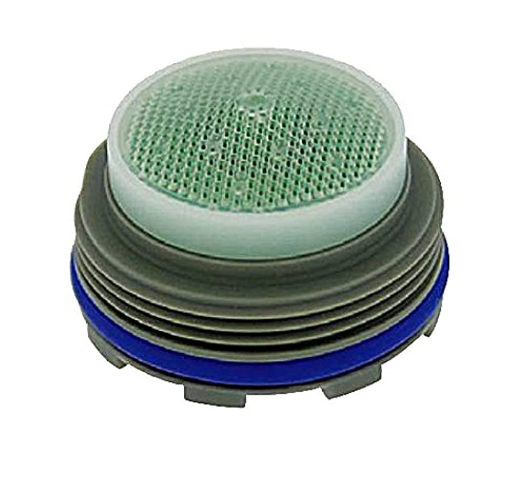 Neoperl 13 0590 5 Low Flow PCA Cache Perlator HC Aerator, Junior Size, 1 GPM, Blue/Clear Dome, Honeycomb Screen, Laminar Stream, M21.5 x 1 Threads, Plastic, 0.553