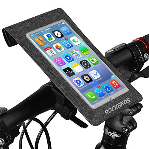 Fantastic Deal! RMPH-Mobile Phone Holder Waterproof Bike Mount Holder Detachable 360 Degree Rotation Adjustable Angle Fully Waterproof Bicycle Bike Phone Holder Fit for iPhone 6s, 6 Plus, SE, 5, 5s Under 6 Inch